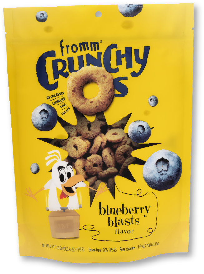 Fromm Fromm Crunchy O's Blueberry Blast 6oz Product Image