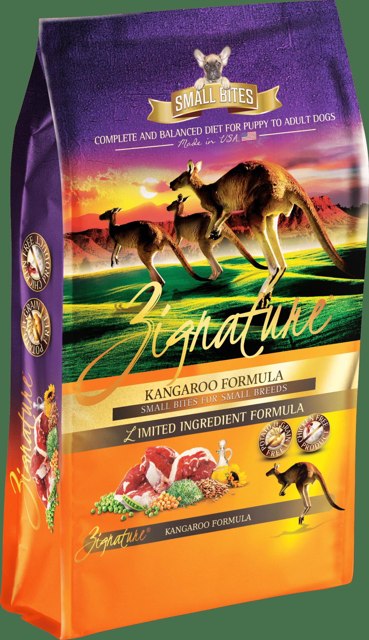 Zignature Zignature Kangaroo Small Bites Limited Ingredient Formula Dog Food 13.5lbs Product Image