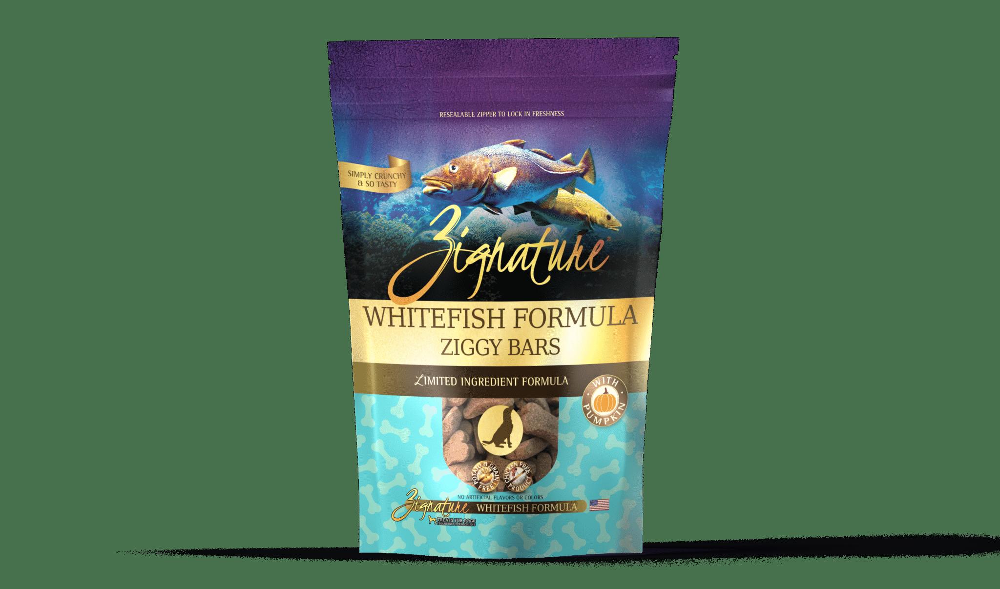 Zignature Zignature Ziggy Bars Whitefish Formula 12oz Product Image