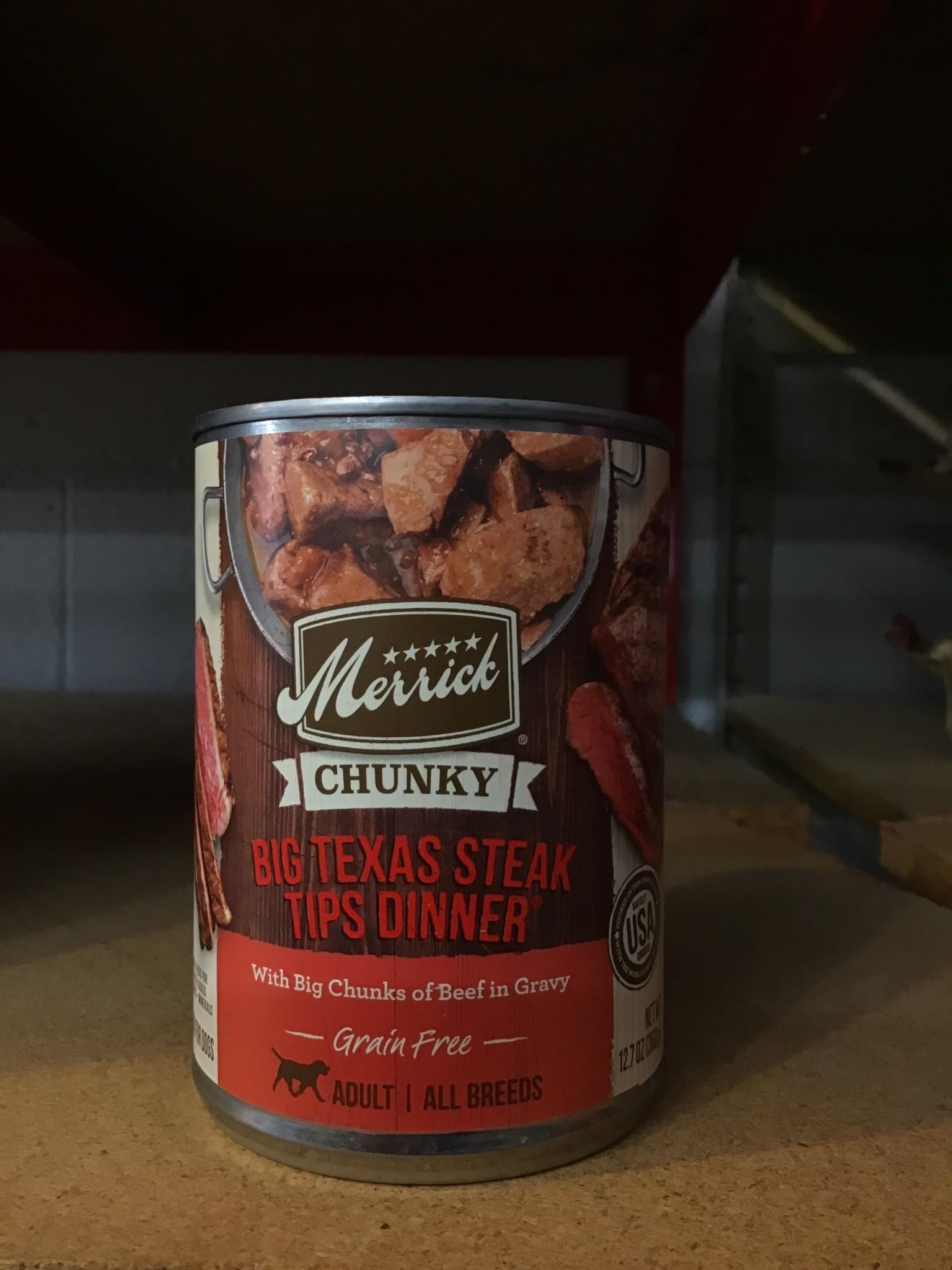 Merrick Pet Foods Merrick Grain Free Chunky Big Texas Steak Tips Dinner Dog Can 12.7oz Product Image