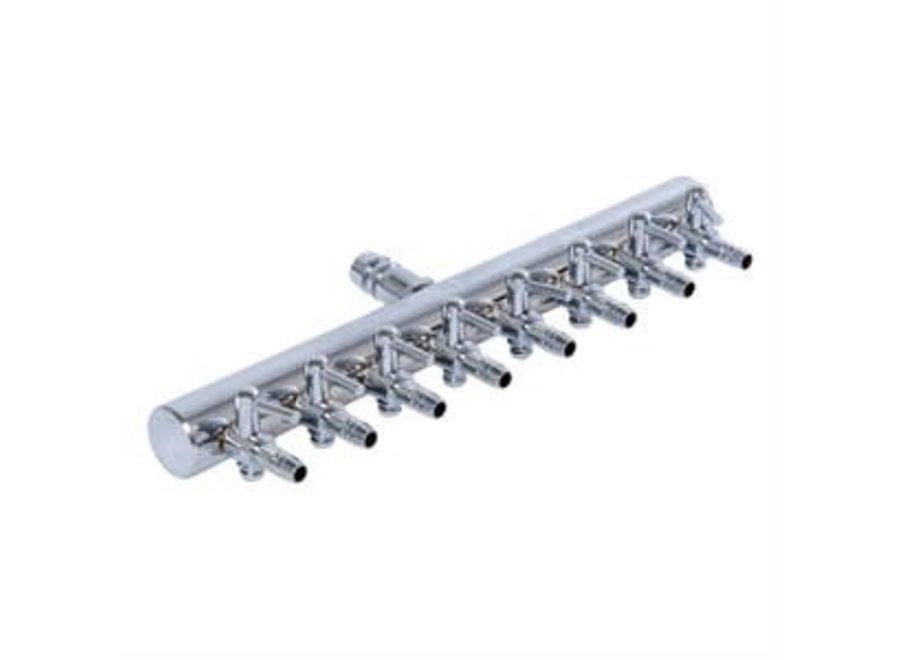 active aqua metal 8 outlet air divider