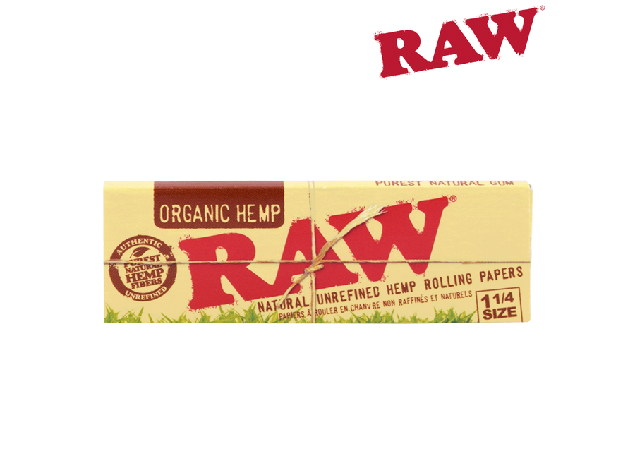 raw organic hemp 1.25 single