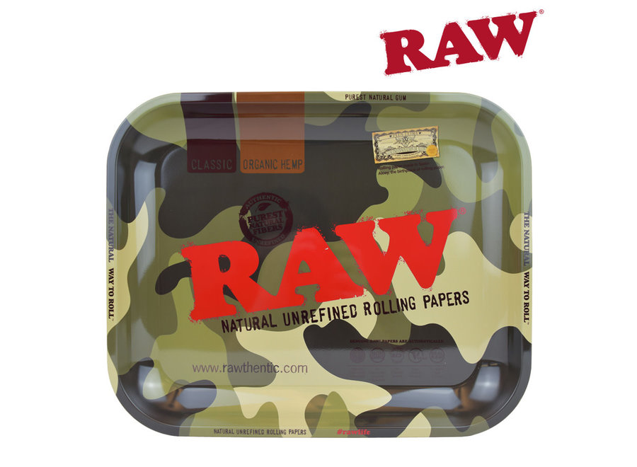 Raw Camo Rolling Tray Cover Large