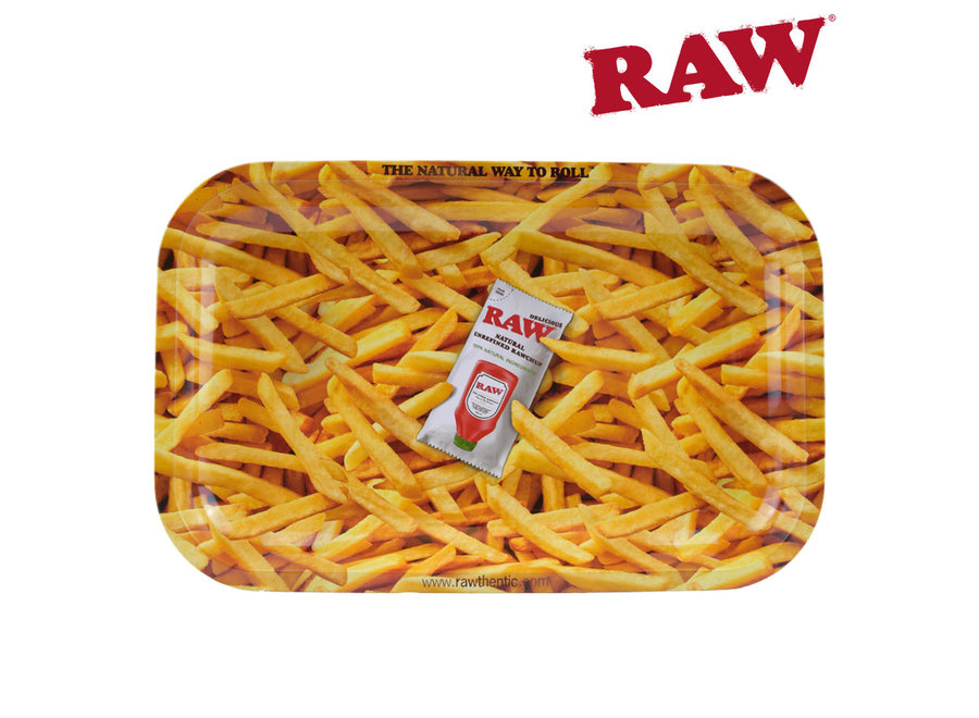 Raw French Fries Rolling Tray Tin Small