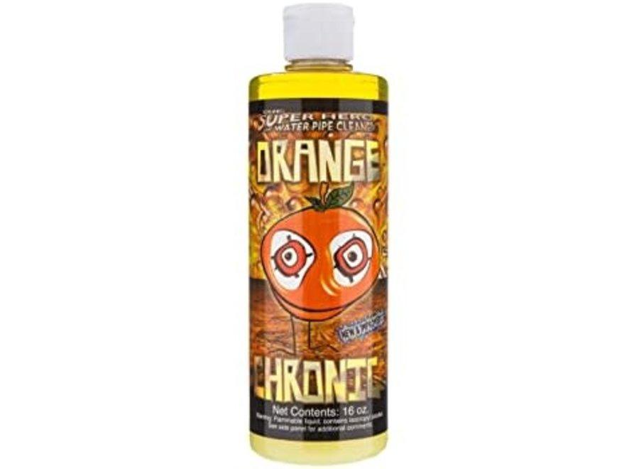 Orange chronic pipe cleaner 16 oz glass formula
