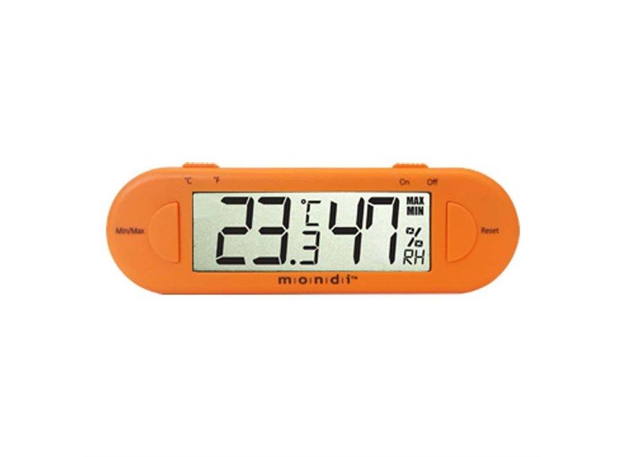 Mondi Mini Greenhouse Thermo Hygrometer Orange