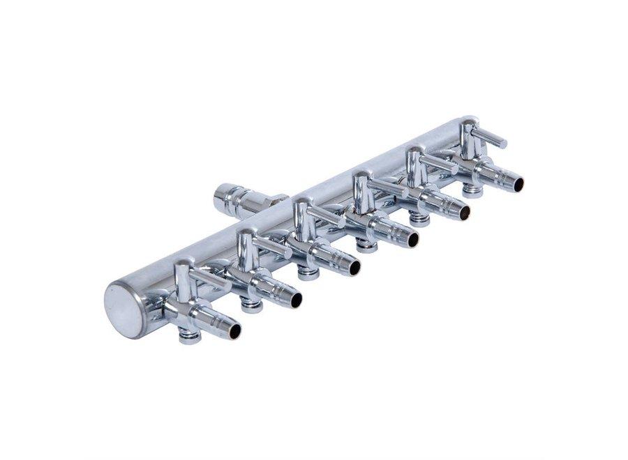 Active aqua metal 6 outlet air divider