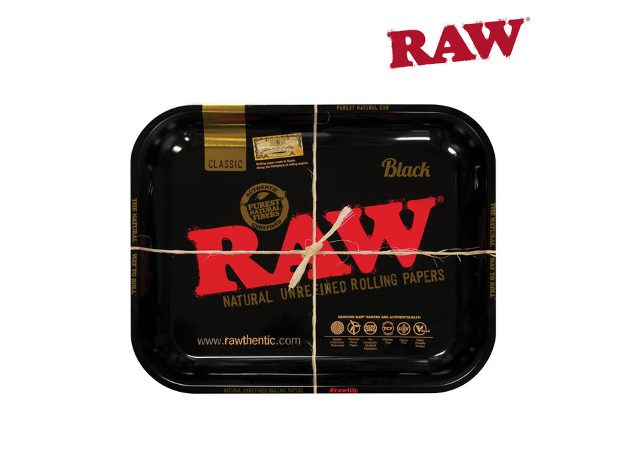 RAW Rolling tray Large Black