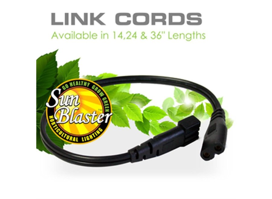 "SunBlaster T5 Link Cord 24"""