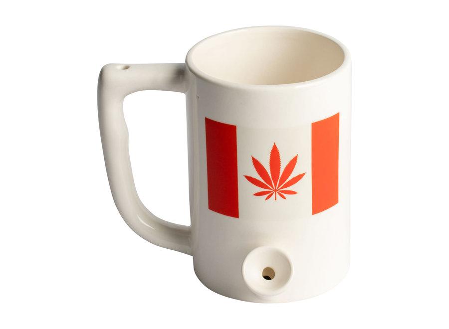 "Ceramic Coffee Mug Pipe ""Canada Leaf"""