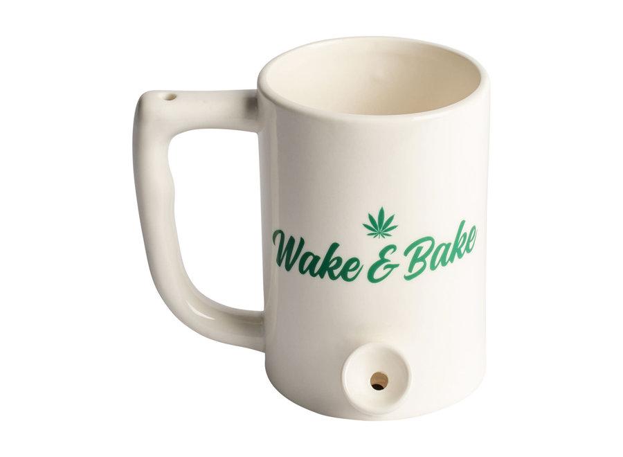 "Ceramic Coffee Mug Pipe ""Wake & Bake"""