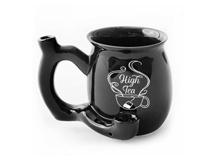 Ceramic High Tea Mug Pipe - Black