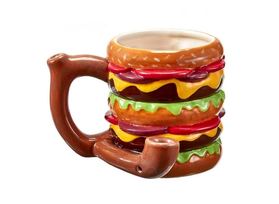 Ceramic Cheeseburger Mug Pipe