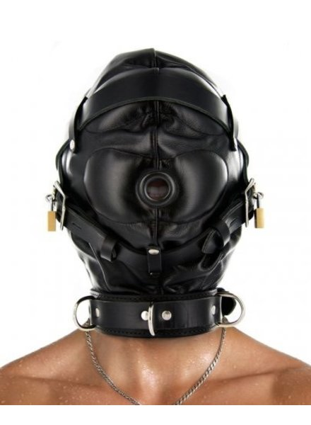 Total Sensory Deprivation Leather Hood