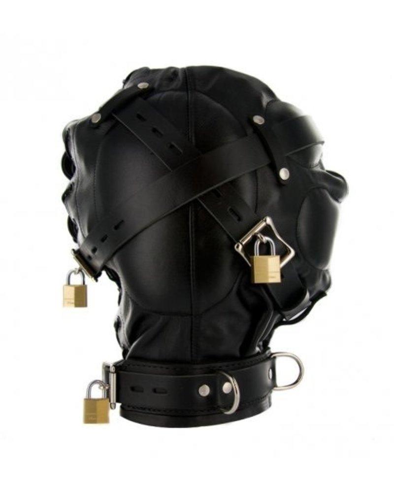 Total Sensory Deprivation Leather Hood