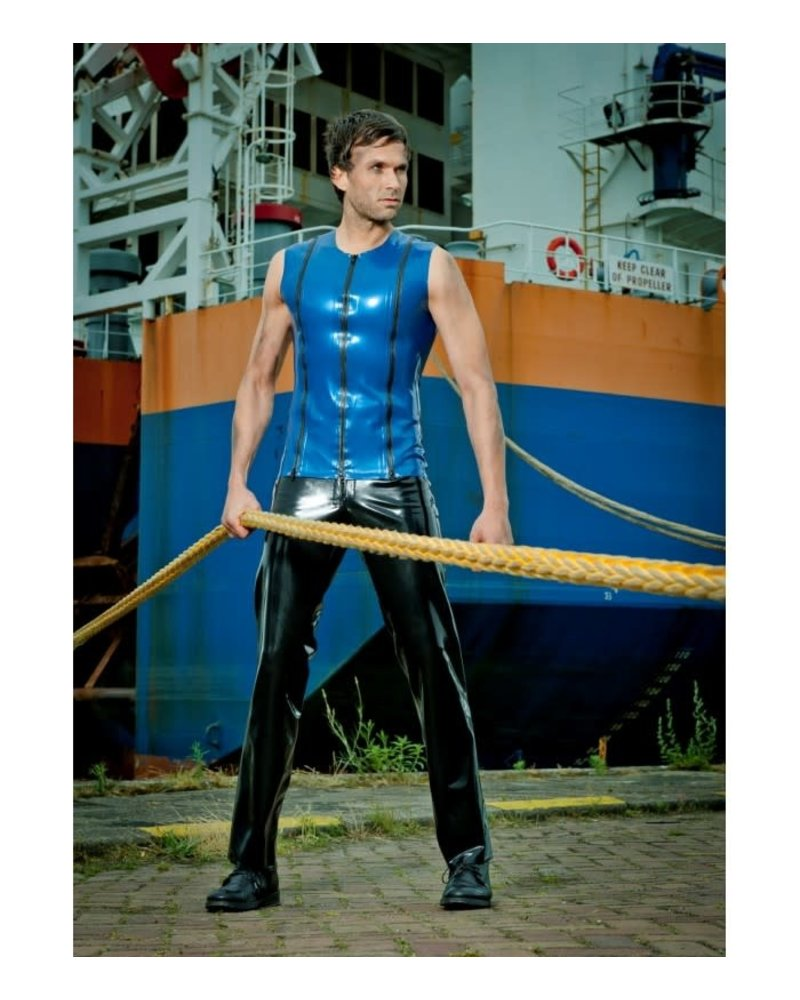 Peter Domenie Latex Top with 3 Zippers in Front
