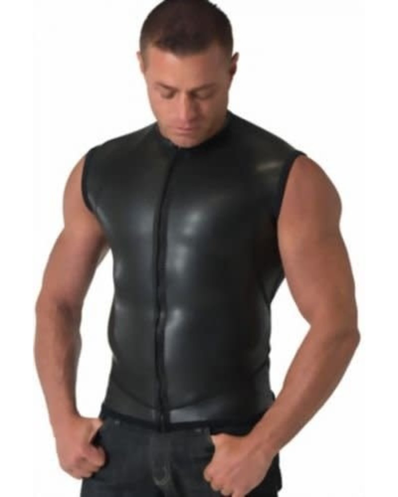 665 Leather Moto Zip Vest