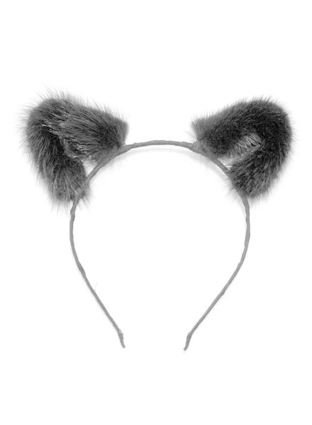 TOF INC Mink Fur Cat Ears Headband
