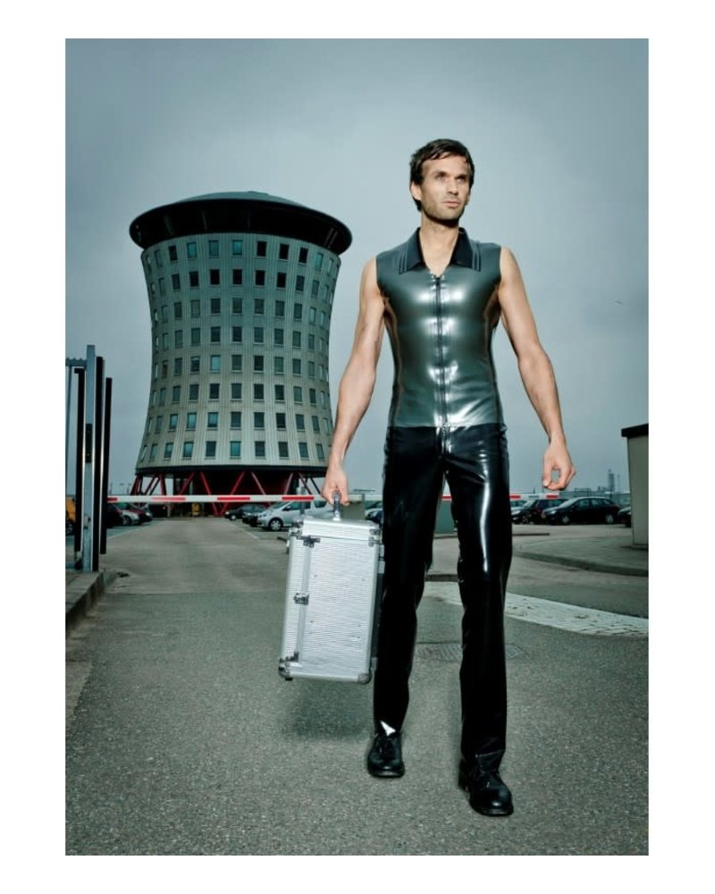 Peter Domenie Latex pants with belt loops