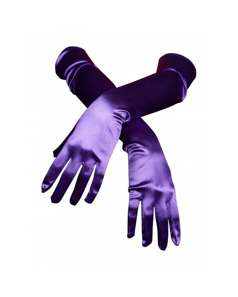 Satin gloves - Elbow length