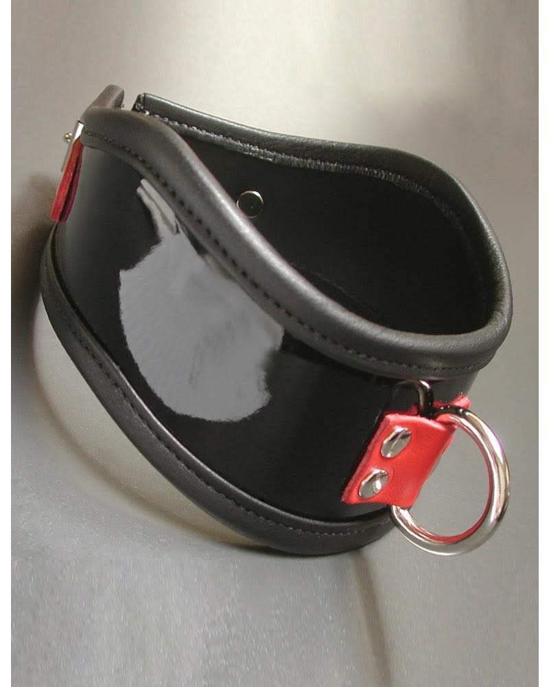 Firecracker Patent Leather Posture Collar