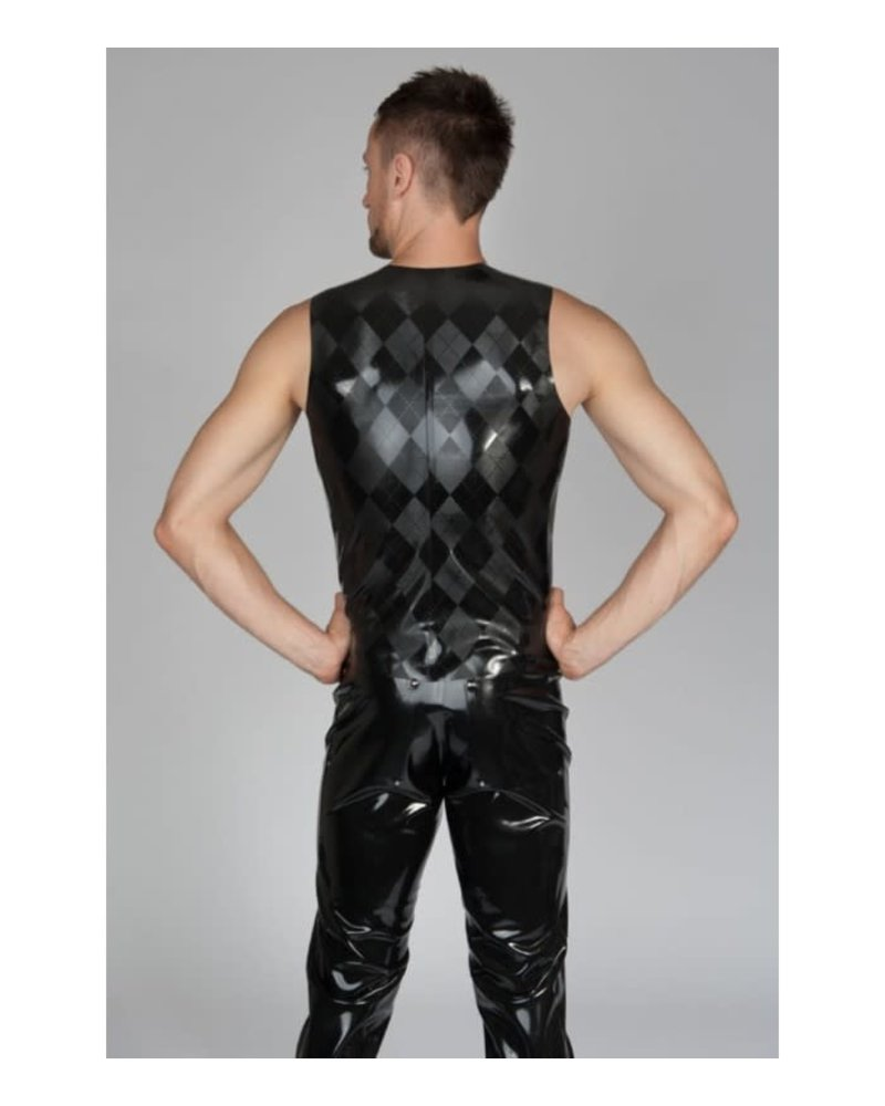 Latex Vest with Argyle pattern