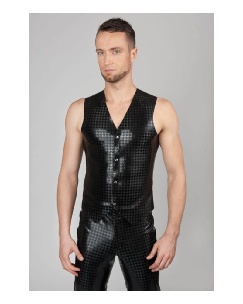 Latex Vest with Houndstooth pattern