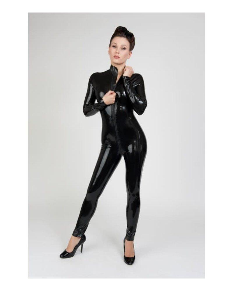 Peter Domenie Black Latex Long sleeved catsuit