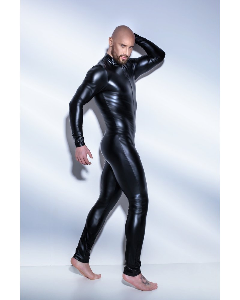 Noir Handmade Overall suit with two way zipper