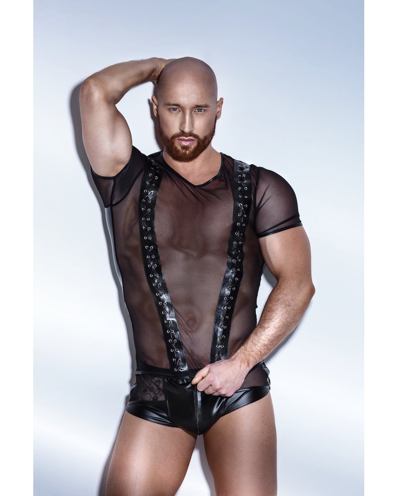 Noir Handmade Sheer t-shirt with front lacing