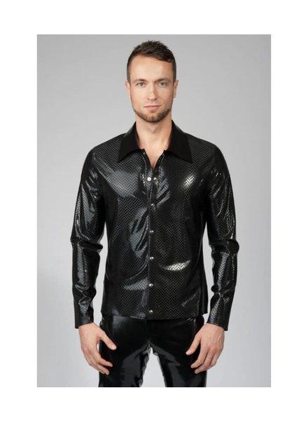 Peter Domenie Textured shirt with a Herringbone pattern.