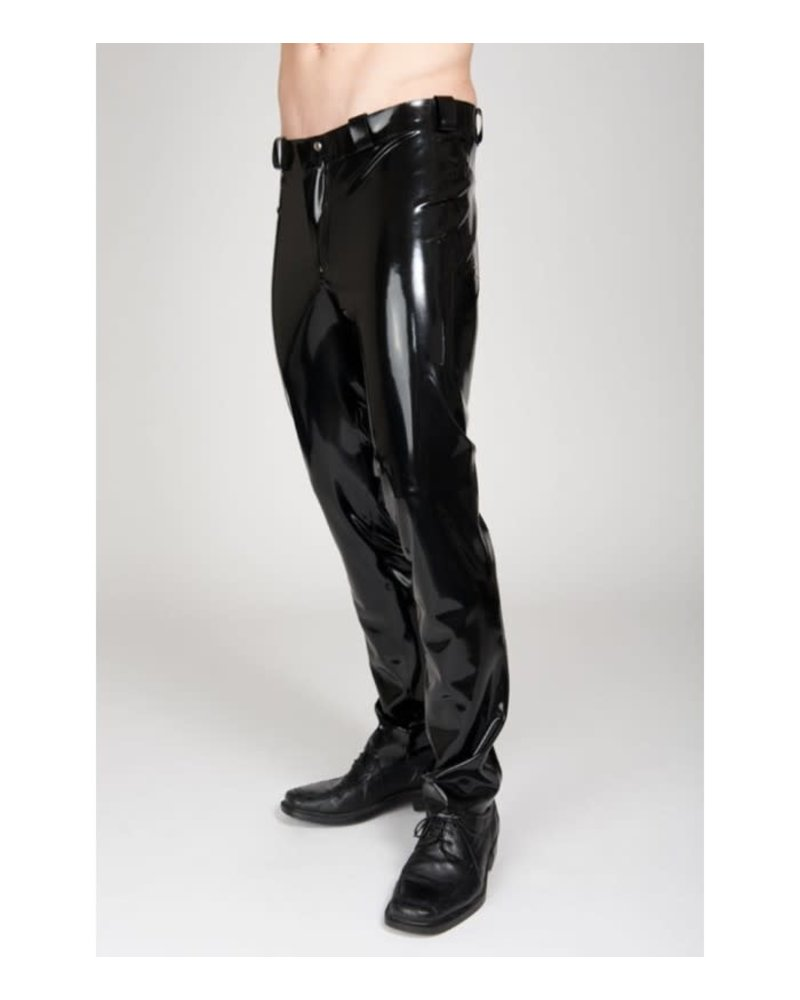 Black Latex pants Slim fit