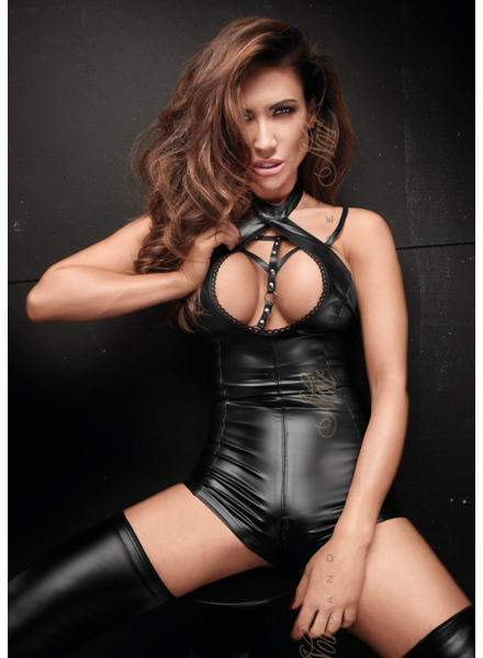 Bodysuit with open lace front