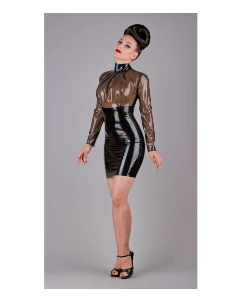 Peter Domenie Semi-transparent and black dress