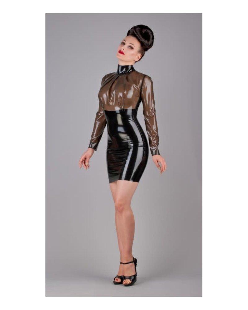 Semi-transparent and black dress
