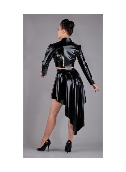 Flared latex skirt