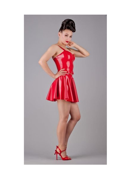 Peter Domenie Red Mini latex skirt
