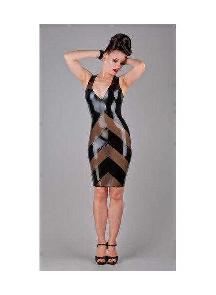 V neck semi transparent dress