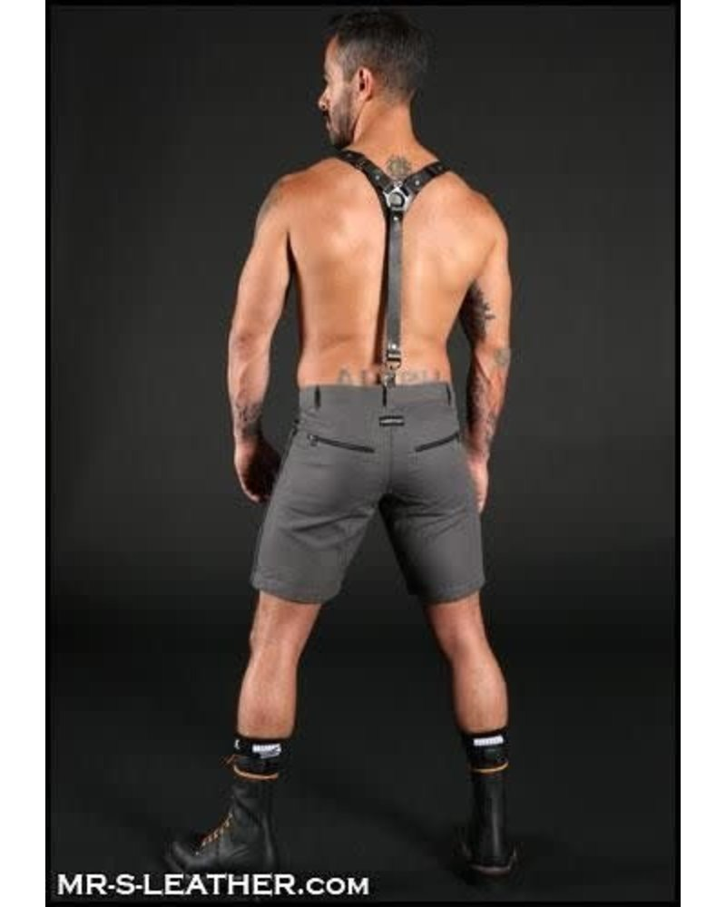 Mr. S Leather Patrol Harness / Suspender Combo