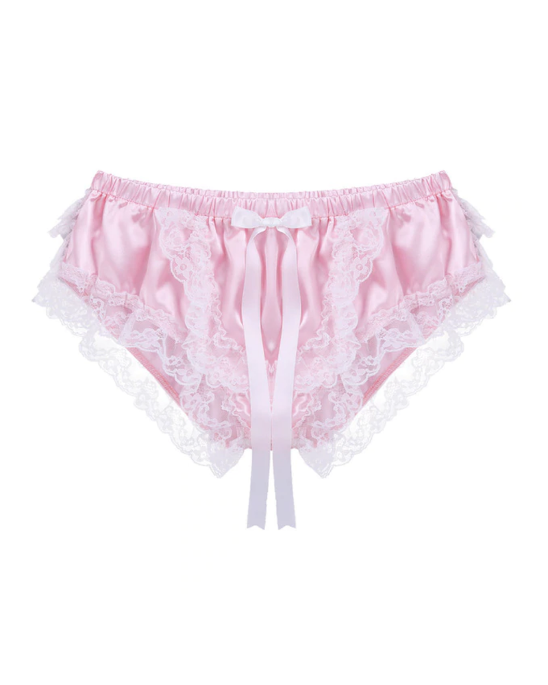 Satin ruffle Panties