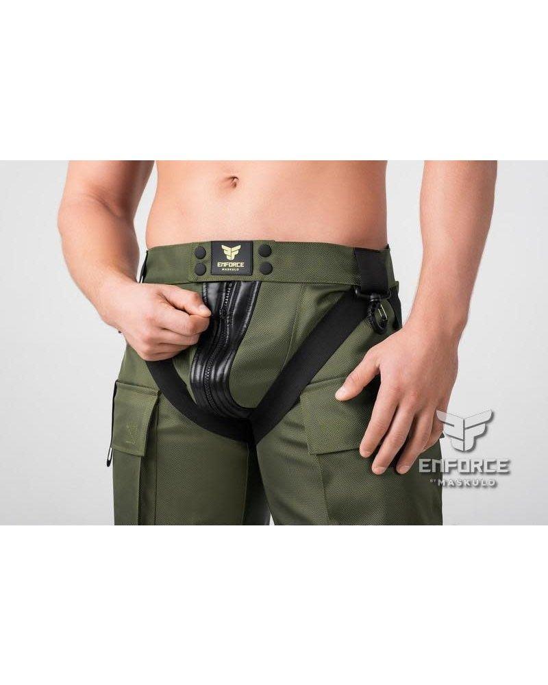 Maskulo EnForce Two-Sides Zippered Shorts