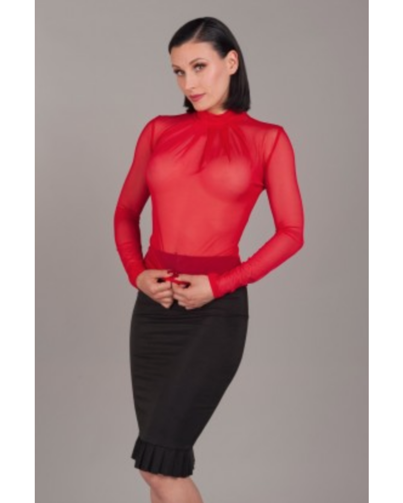 Peter Domenie Long sleeve top with pleats