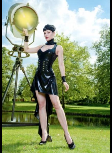 Peter Domenie Asymmetrical Black Dress