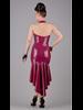 Peter Domenie Asymmetrical Dress with front zip Plum