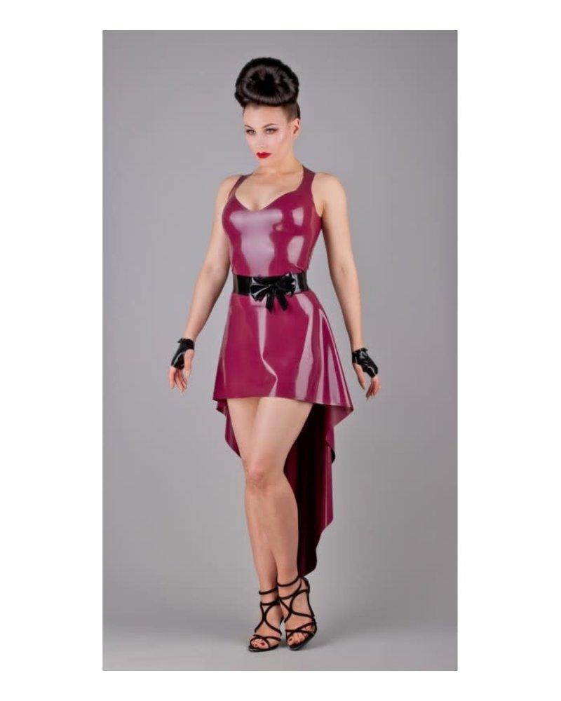 Peter Domenie Asymmetrical Plum Dress