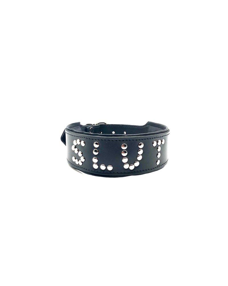 XR Studded Leather Slut Collar
