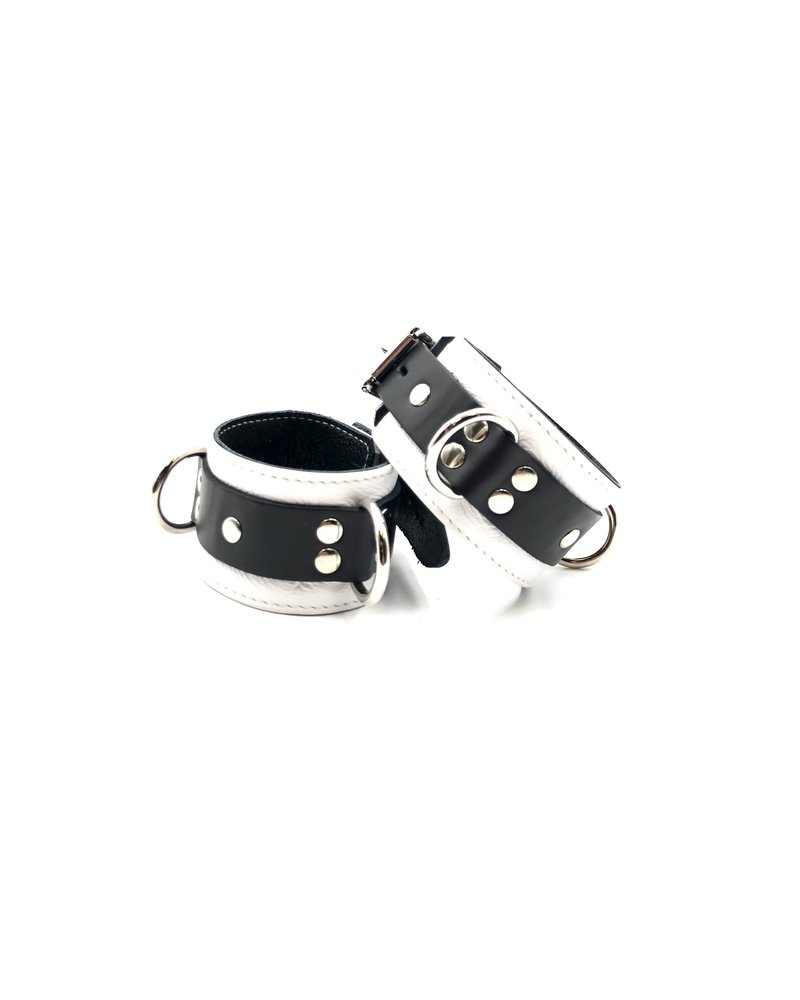 Aslan Leather Jaguar White Ankle Cuffs