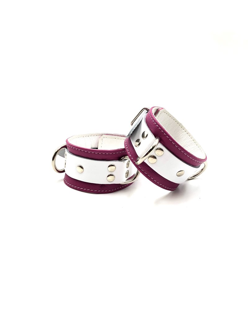 Aslan Leather Pink Candy Ankle Cuffs