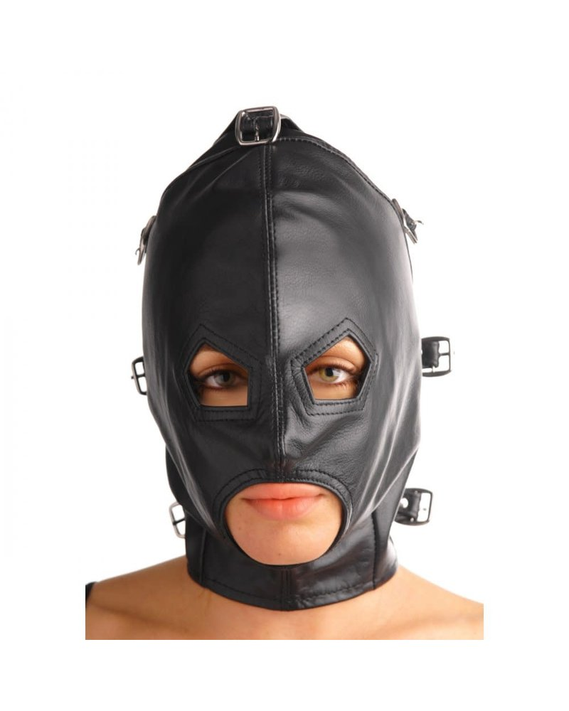 Strict Leather Asylum Leather Hood with Removable Blindfold and Muzzle