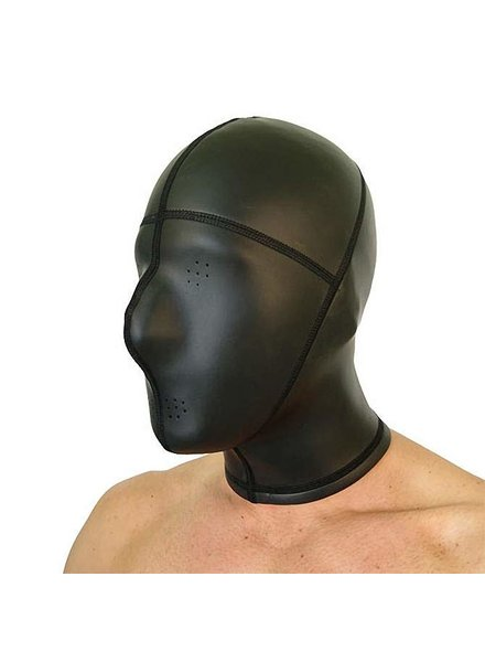 665 Leather Neoprene Panel Hood with Pinhole Eyes and Mouth